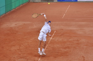 Stefanos Tsitsipas (*98 / GRE) - serve - 2015 European U18 JUnior Championships -Klosters / Switzerland