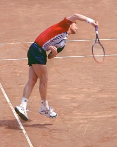 Boris Becker (*67 / GER) - Serve - follow through - Gstaad 1998