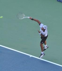 Novak Djokovic (*87 / SRB) - 1st service in the match - follow through 1 - 2010 US.Open - New York