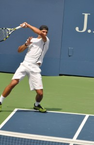 Rafael Nadal (*86 / ESP) - Forehand 3.0 in the practice - follow through - 2010 US.Open - New York
