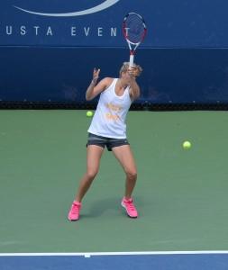 Petra Kvitova (*1990 / CZE) - Forehand in the practice - 2014 US.Open - NYC