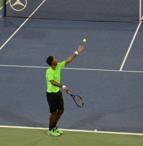 Gael Monfils (86* / FRA) - Serve - Start - 2014 US.Open - NYC