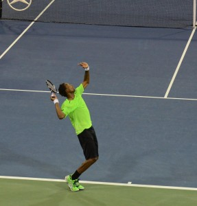 Gael Monfils (*86 / FRA) - Serve - 2014 US. Open - NYC
