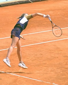 Steffi Graf (*1969 / GER) - Serve - Follow Through- 1999 French Open - Paris