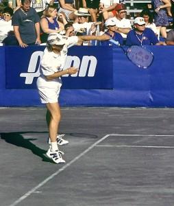 Martina Navratilova (*56 / USA-CZE) - 1st service 3.0 in the match - 1996 WTT Finals - Saddlebrook, FL / USA