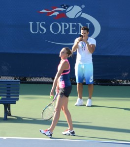 Karolina Pliskova (*92 / CZE) - serve in practice before the 2016 US.Open - NYC / USA - August 2016