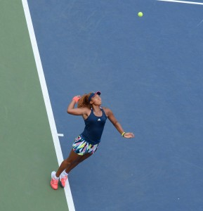 Naomi Osaka (*97 / JPN) - 1st serve - deuce side - 2016 US.Open