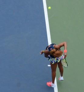 Naomi Osaka (*97 / JPN) - 1st serve - ad side - 2016 US.Open