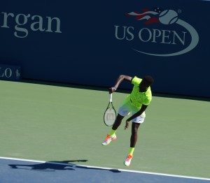 Frances Tiafoe (*98 / USA) - 1st service in the match - 1 of 3 - 2016 US.Open - NYC