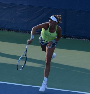 Garbine Muguruza (*93 / ESP) - 1st service in practice - 1 of 3 - 2015 US.Open - NYC
