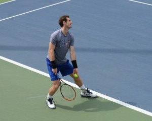 Andy Murray (*87 / GBR) - 1st service in the practice - 1 of 3 - deuce side - loading - 2016 US.Open - NYC