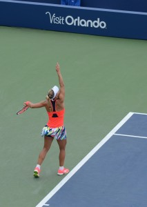Angelique Kerber (*88 / GER) - 1st service in a match - 1 of 4 - toss / backswing - 2016 US.Open - NYC