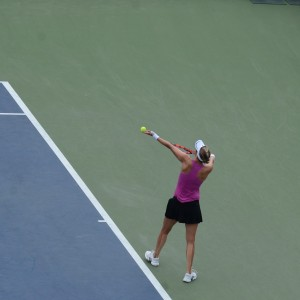 Mirjana Lucic-Baroni (*82 / CRO) - 1st service in a match - 1 of 4 - toss - 2016 US.Open - NYC