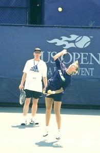 Mirjana Lucic (*82 / CRO) - 1st service in practice - 1998 US.Open - NYC