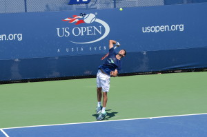Marin Cilic (*88 / CRO) - 1st service in a practice - 1 of 4 - 2014 US.Open - NYC