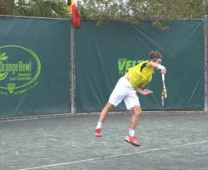 Casper Ruud (*98 / NOR) - 1st service in the match - start - 2015 Orange Bowl -Plantation, FL / USA