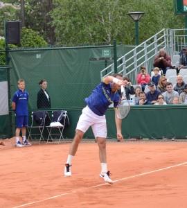Radek Stepanek (*78 / CZE) - 1st service 3.0 in a match - 1 of 6 - deuce side - 2016 French Open - Paris