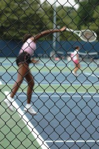 Venus Williams (*80 / USA) - 1st service in the practice - follow through 1 = targeted pronation with perfect body energy integration into the stroke - 2007 US.Open