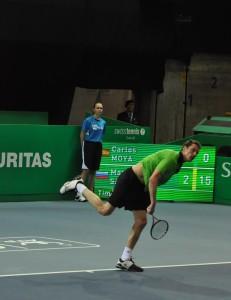 Marat Safin (*80 / RUS) - 1st service - 1 of 2 - start - 2012 ATP Champions Tour - Zurich / Switzerland