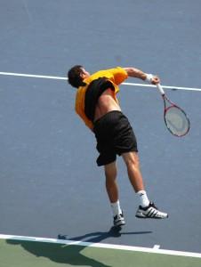 Marat Safin (*80 / RUS) - 1st service in a match - follow through 1 - 2005 US.Open