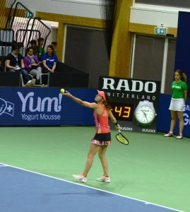 Martina Hingis (*80 / SUI) - service - 1 of 1 - WTA 250 K Biel / Switzerland - April 2017
