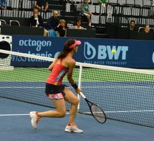 Martina Hingis (*1980 / SUI) - net game - Biel / Switzerland - April 2017