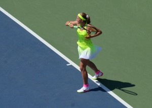 Jelena Ostapenko (*97 / LAT) - forehand in the match - 1 of 6 - 2016 US.Open - New York
