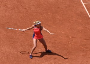 Timea Bacsinszky (*89 / SUI) - Forehand in the match - 1 of 4 - 2017 French Open - Paris